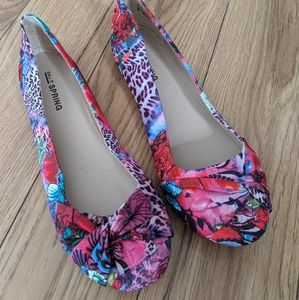 Call it Spring - floral flat shoes
